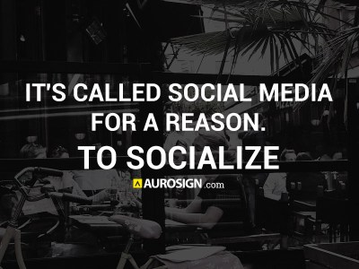 It's Called Social Media For A Reason – To Socialize