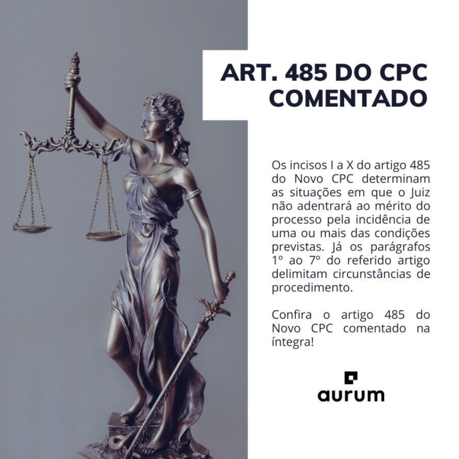 Art 485 do Novo CPC comentado