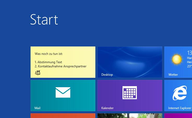 Notizzettel für Windows 8 – Die App Sticky Notes