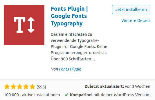 Fonts Plugin - WordPress