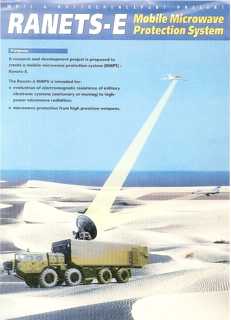 Ranets E – High Power Microwave Directed Energy Weapon
