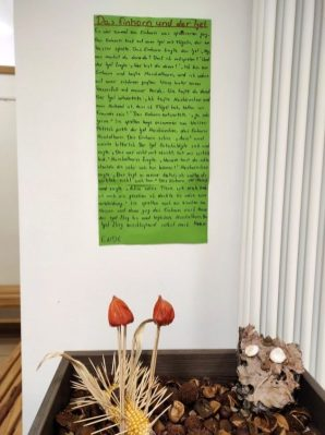 Fanatasietiere aus Naturmaterialien_Das Einhorn und der Igel