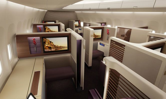 Kick back in 'Royal First' (first class) on Thai's newer Boeing 747s