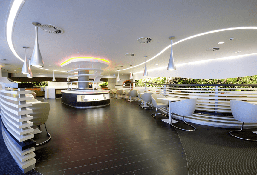 SkyTeam's flagship London Heathrow Lounge typifies the look of its Sydney sibling