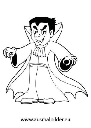 Gruseliger Vampir Halloween Ausdrucken