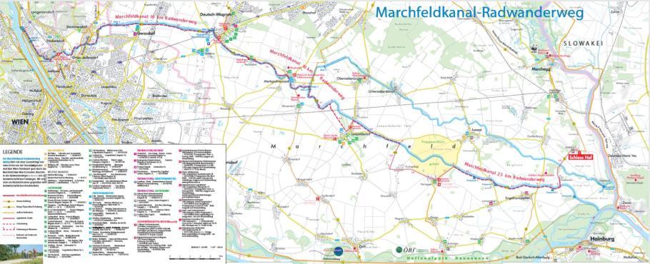 Marchfeldkanal Radweg Karte