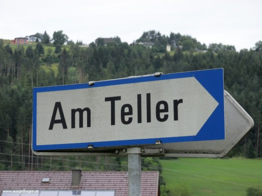 Am Teller in Kärnten - Ortsschilder Österreich