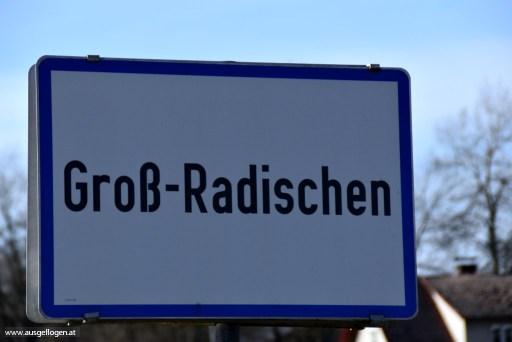 Groß-Radischen in Niederösterreich - Ortsschilder Österreich