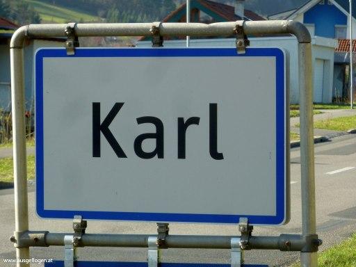 Karl im Burgenland lustige Ortsschilder Österreich