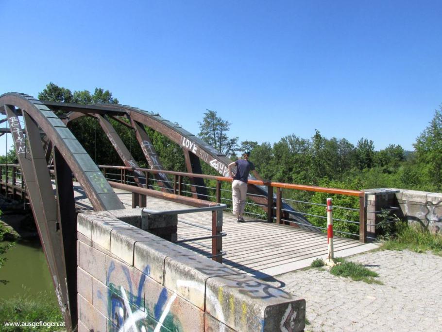 Marchfeldkanal Holzbogenbrücke