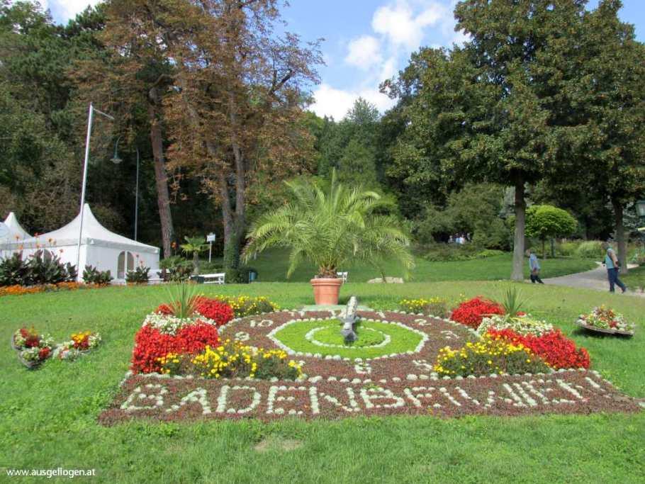 Kurstadt Baden Blumenuhr