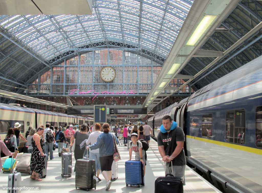 EuroStar Ankunft St. Pancras London Urlaubsideen Kinder