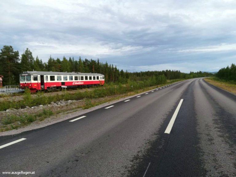 Inlandsbanan Schweden Straße