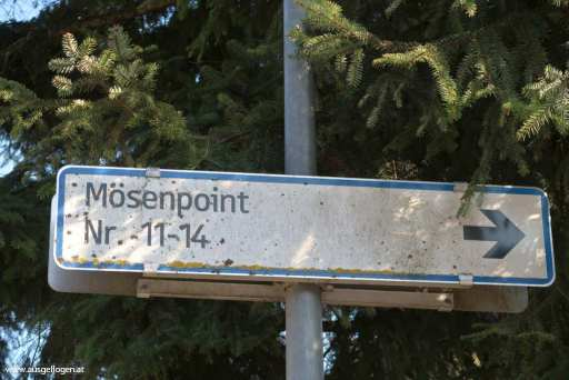 Mösenpoint Ortsschild Österreich
