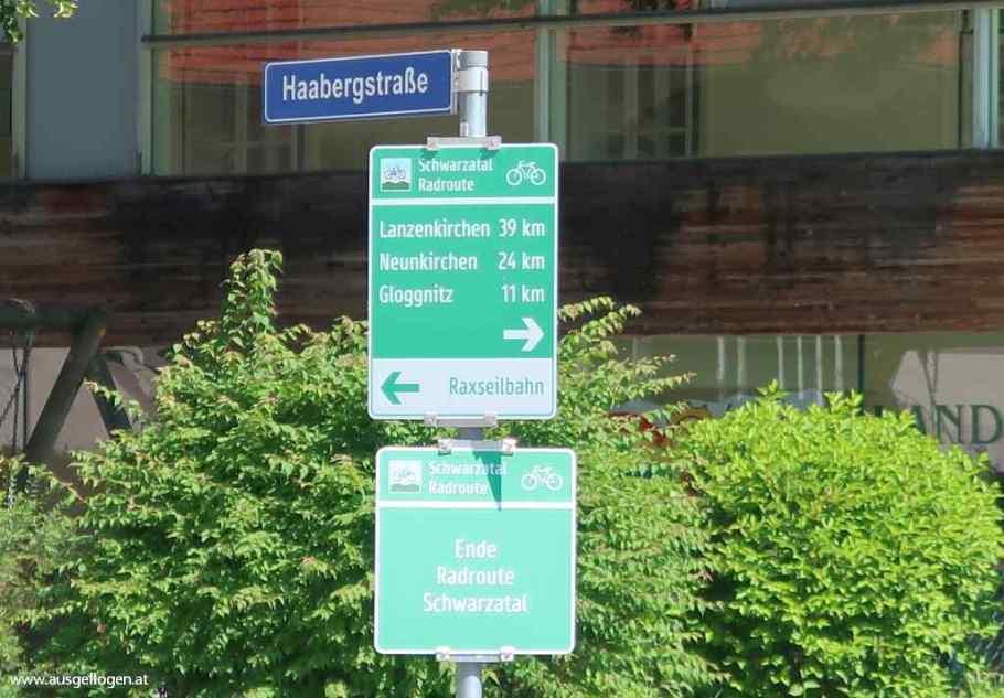 Schwarzatal Radweg Route
