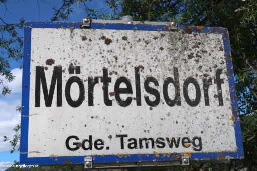 Ortsschild Mörtelsdorf
