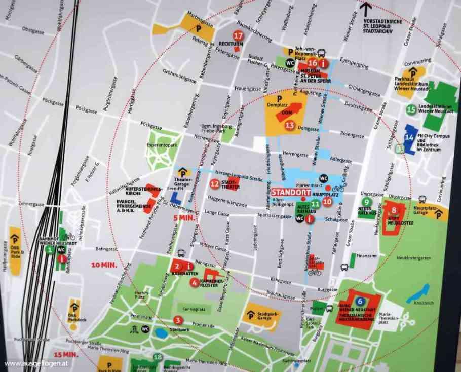 Wiener Neustadt Sehenswürdigkeiten Karte