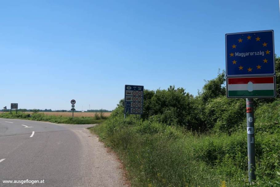 Grenzübergang Rajka Slowakei Ungarn