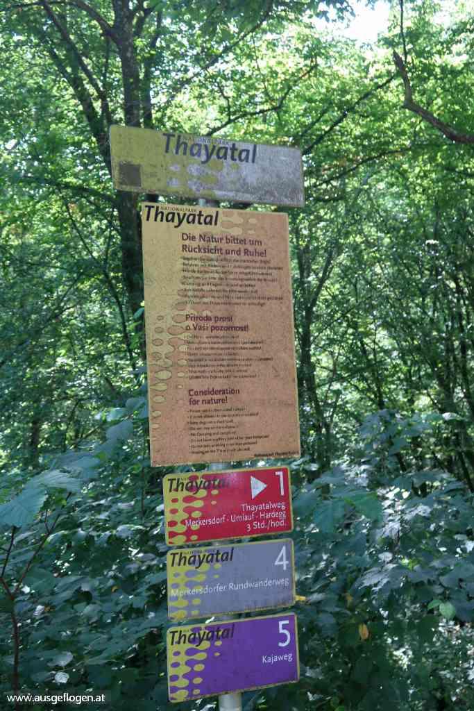 Hardegg Nationalpark Thayatal Wanderwege