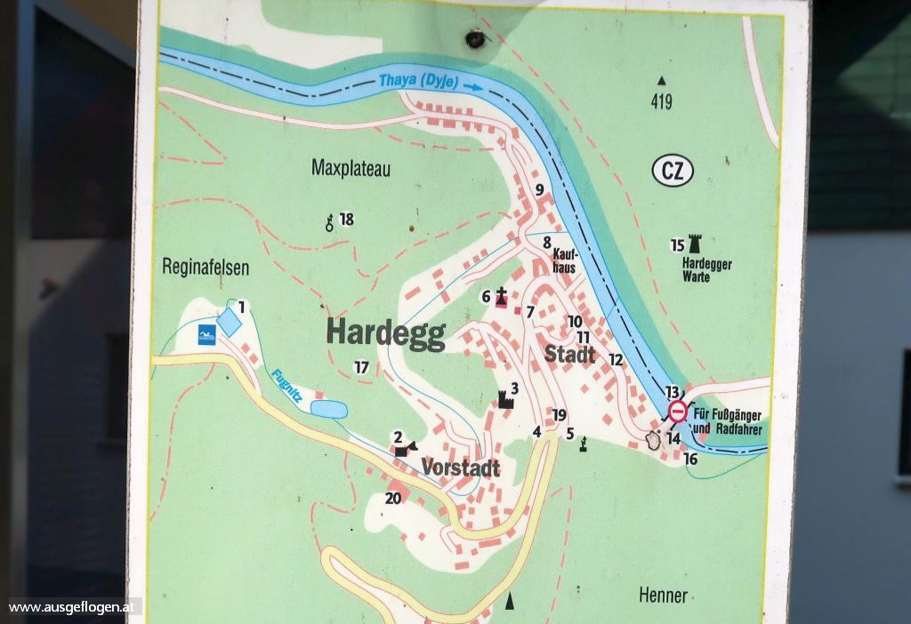 Hardegg Karte Sehenswürdigkeiten Spaziergang