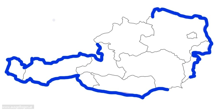 Grenztour Österreich Karte