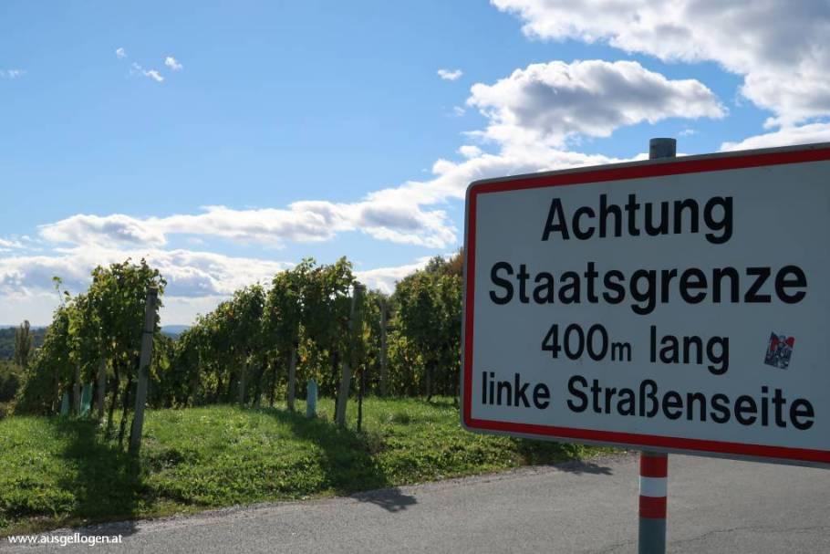 südsteirische Weinstraße Grenze