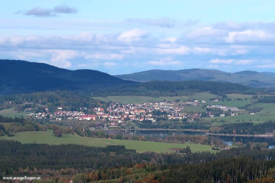 Moldaublick Aussichtswarte Ausflugsziel Böhmerwald