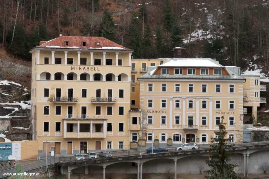 Bad Gastein verfallenes Hotel Salzburgerland