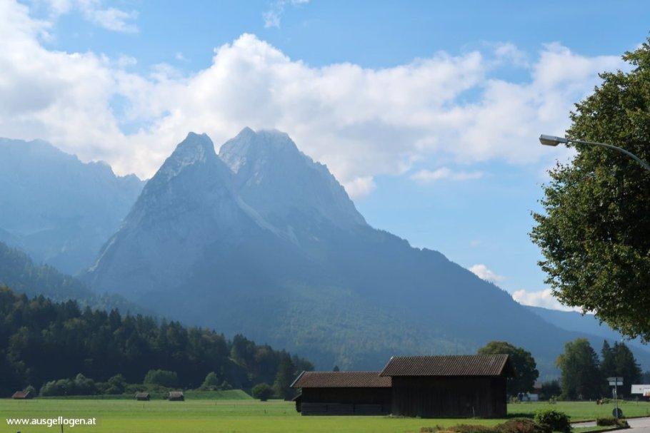 Garmisch Blick auf Zugspitze