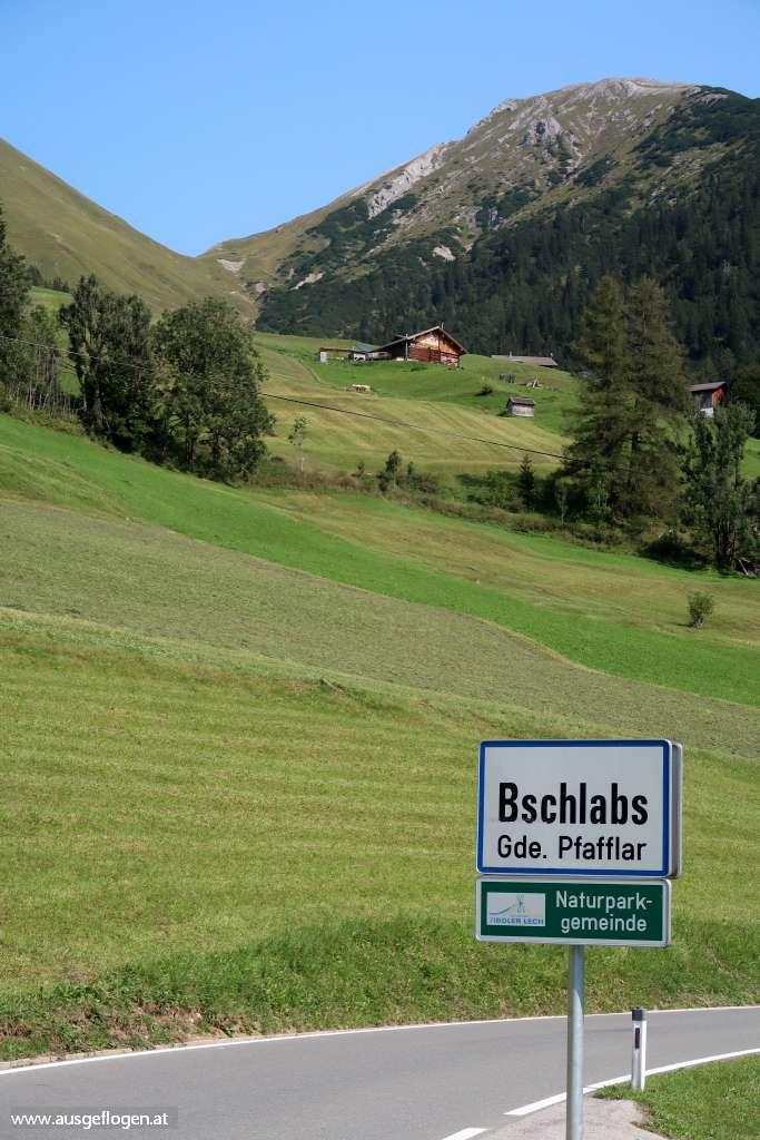 Bschlabs Ausflugsziel Lechtal