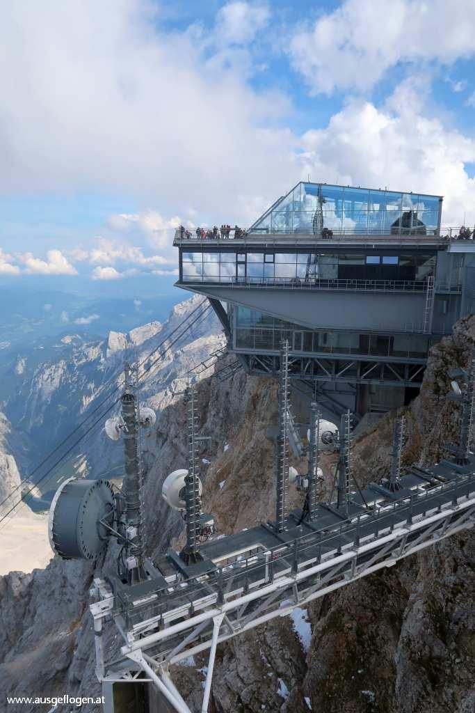 wie sieht es oben auf der Zugspitze aus