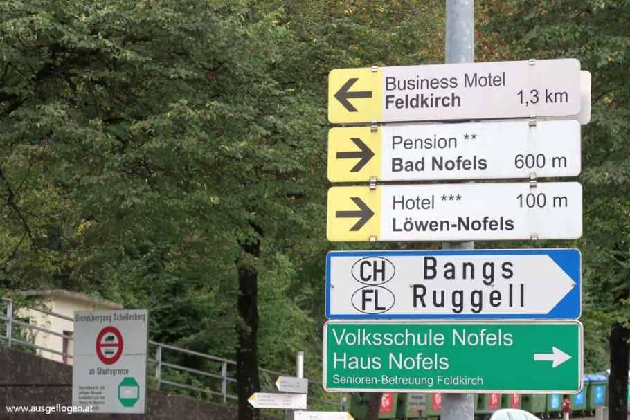 Rheintal Grenzübergänge