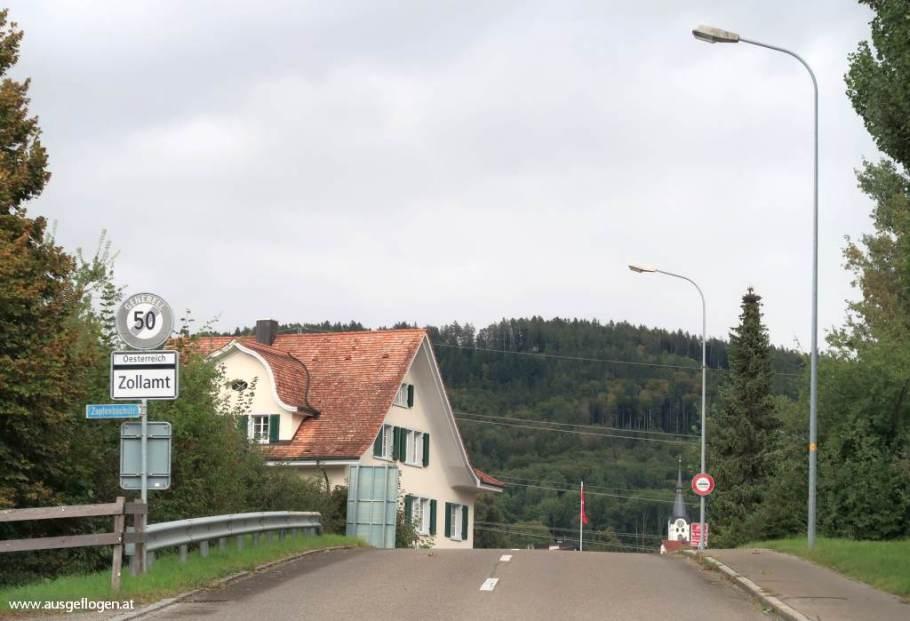 Rheintal Ausflugsziele Grenübergang Oberriet