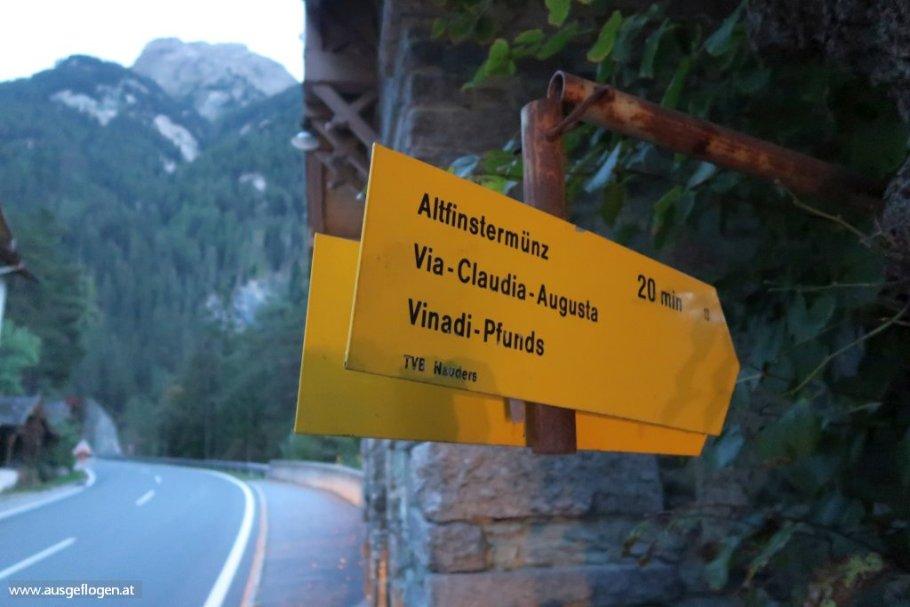 Altfinstermünz Reschenpass Via Claudia Augusta