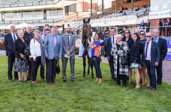 Connections of Secret Blaze after winning the Thoroughbred Club Galilee Series Final
