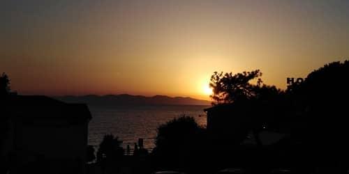 Tramonto sulla Corsica