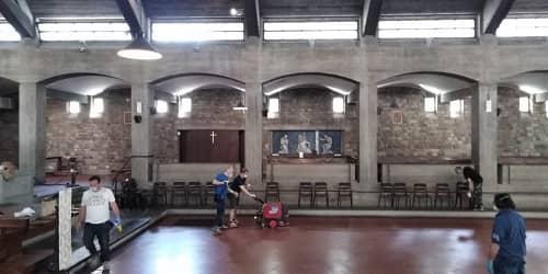 Pulizia in chiesa grande Primavera 2021