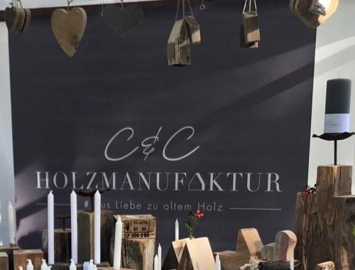 C&C HOLZMANUFAKTUR - Unser Banner ist fertig