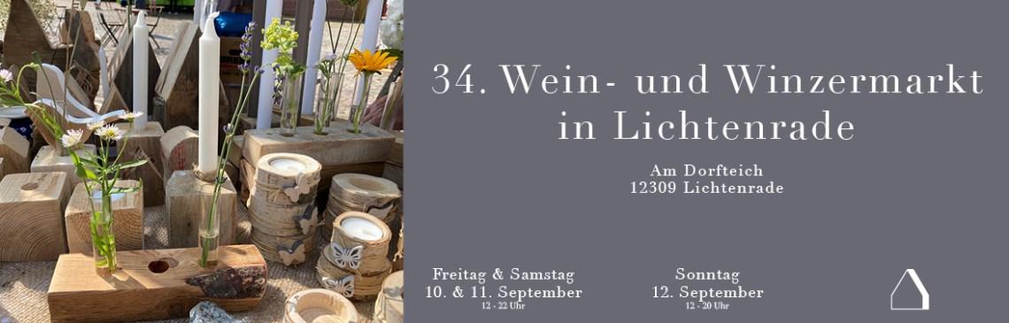 C&C HOLZMANUFAKTUR - Wein- und Winzermarkt in Lichtenrade am 10. bis 12. September 2021