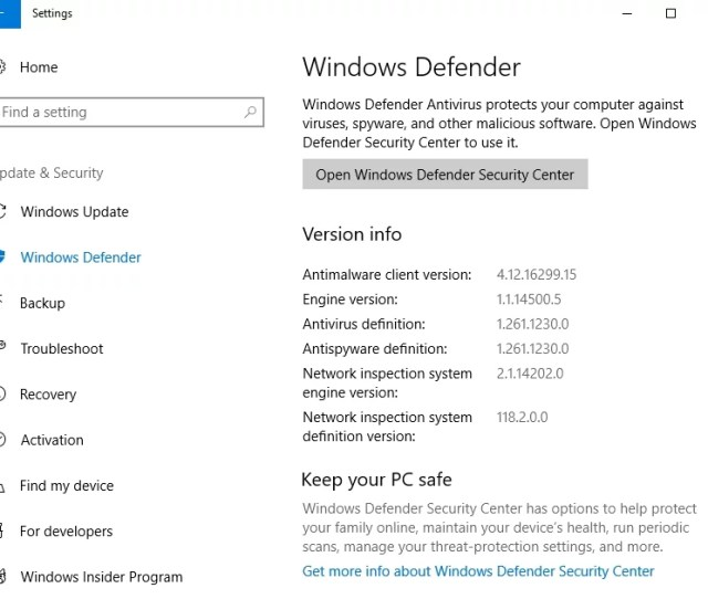 Windows Defender Will Scan Your Pc For Malware