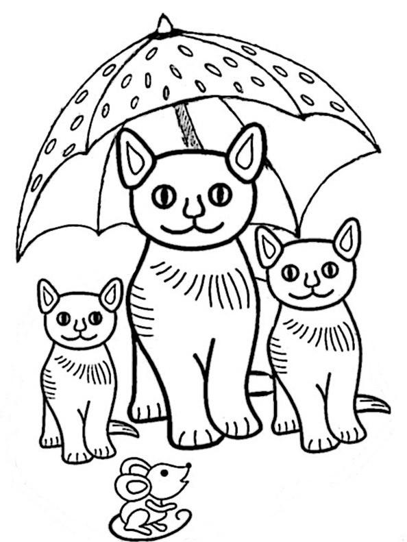 Katze 8 Ausmalbild