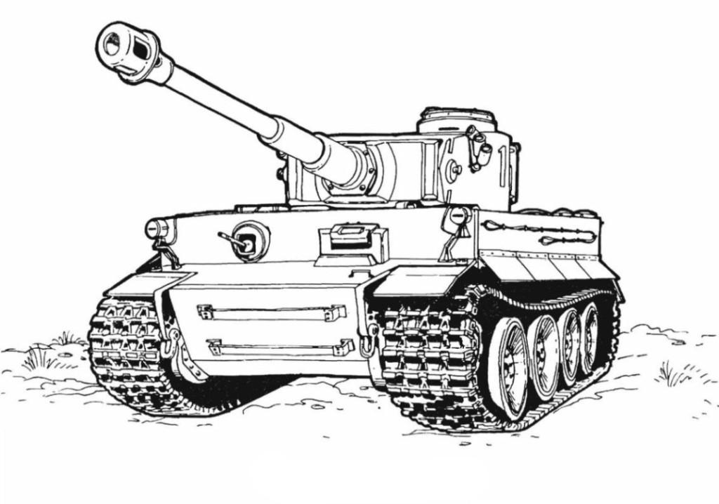 Malvorlagen Zum Drucken Ausmalbild Panzer Kostenlos 2