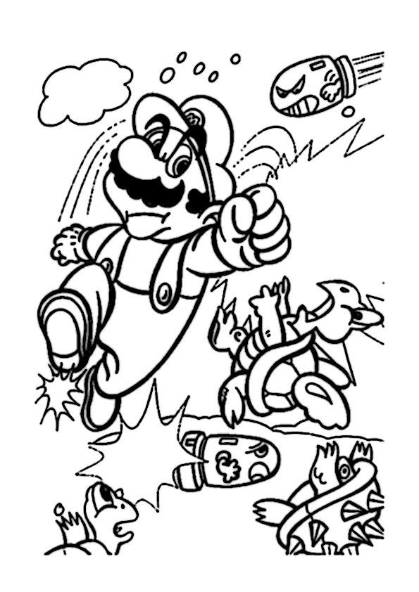 Ausmalbilder Mario 13 Ausmalbilder Malvorlagen