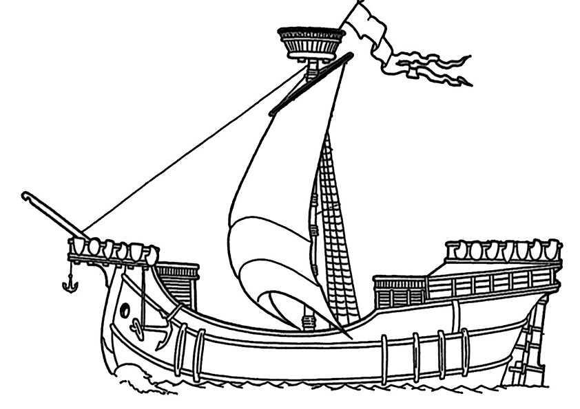 Schiffe 13 Ausmalbilder Malvorlagen