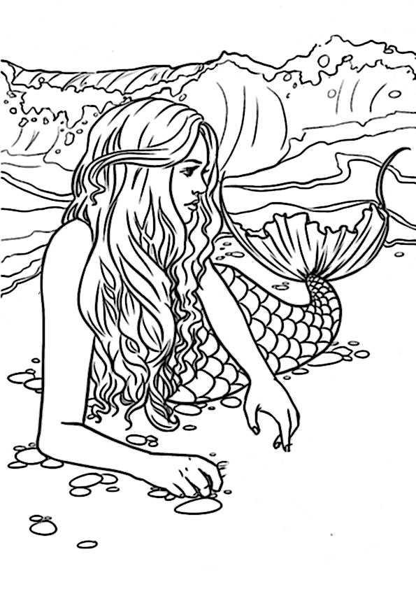 Meerjungfrauen 7 Ausmalbilder Malvorlagen