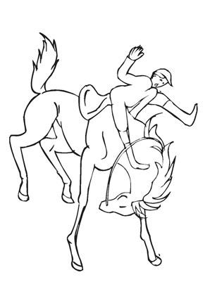 Ausmalbilder Strzender Reiter Pferde Malvorlagen