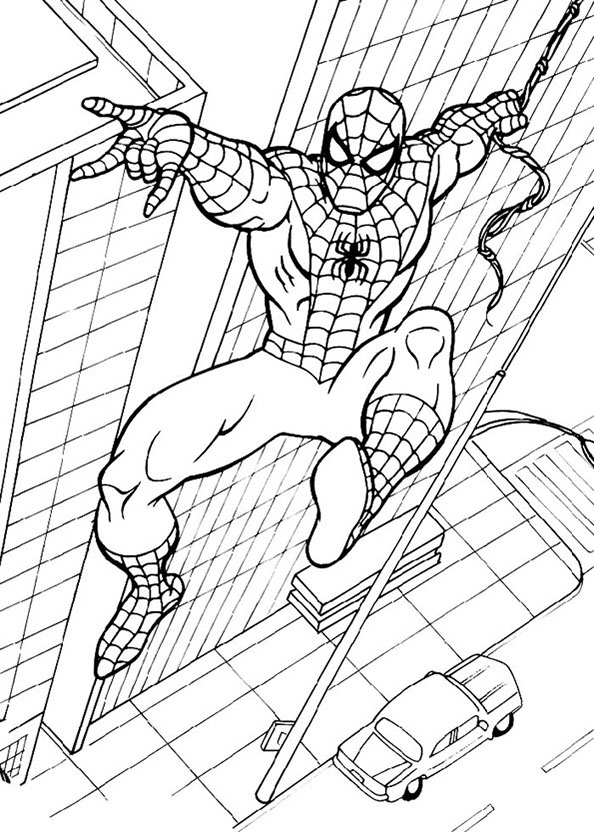Spiderman 12 Ausmalbilder