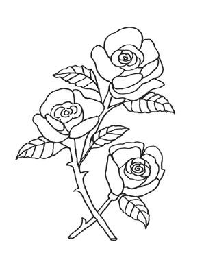 Ausmalbilder Rosen 9 Rosen Malvorlagen