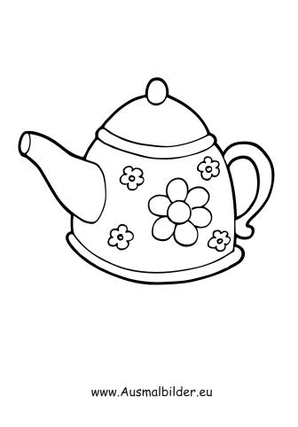 Ausmalbilder Teekanne Haushaltsgerte Malvorlagen
