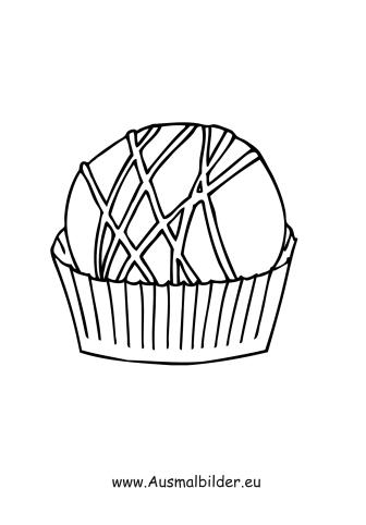 Ausmalbilder Muffin Lebensmittel Malvorlagen